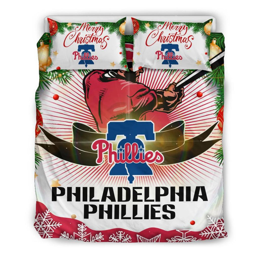 Merry Christmas Philadelphia Phillies Bedding Set