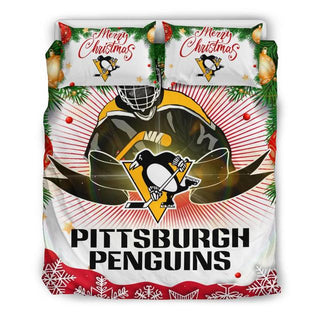 Merry Christmas Pittsburgh Penguins Bedding Set