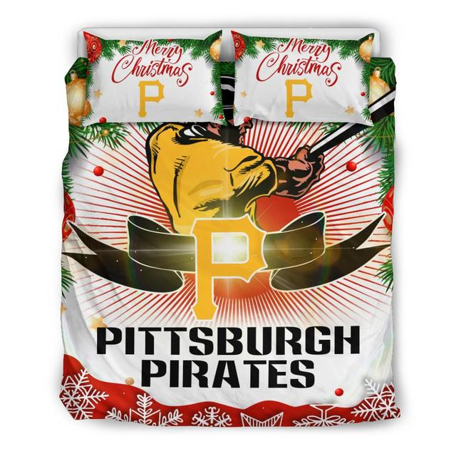 Merry Christmas Pittsburgh Pirates Bedding Set
