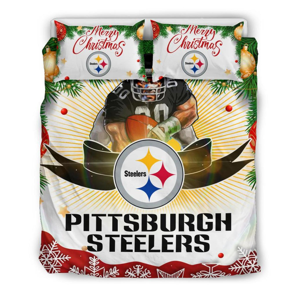 Merry Christmas Pittsburgh Steelers Bedding Set
