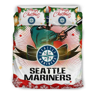 Merry Christmas Seattle Mariners Bedding Set