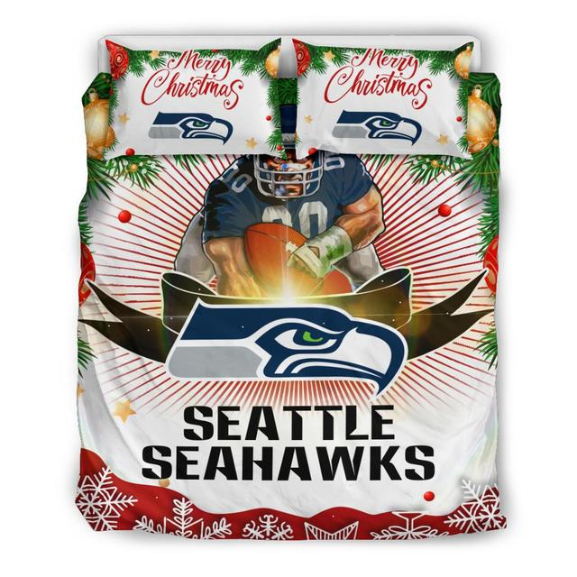 Merry Christmas Seattle Seahawks Bedding Set