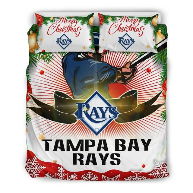 Merry Christmas Tampa Bay Rays Bedding Set