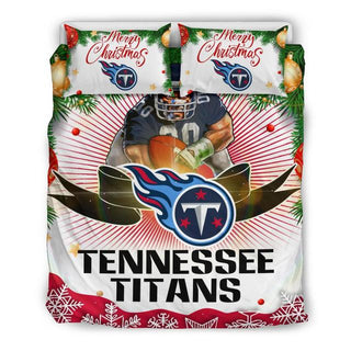Merry Christmas Tennessee Titans Bedding Set