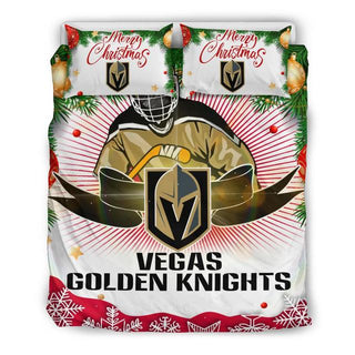 Merry Christmas Vegas Golden Knights Bedding Set