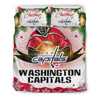 Merry Christmas Washington Capitals Bedding Set