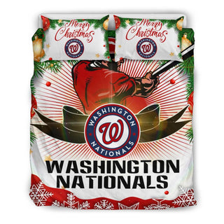 Merry Christmas Washington Nationals Bedding Set