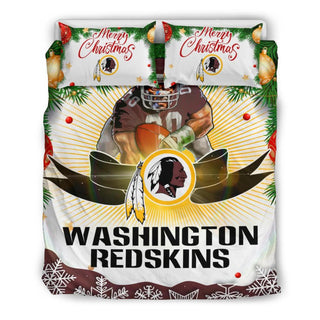Merry Christmas Washington Redskins Bedding Set
