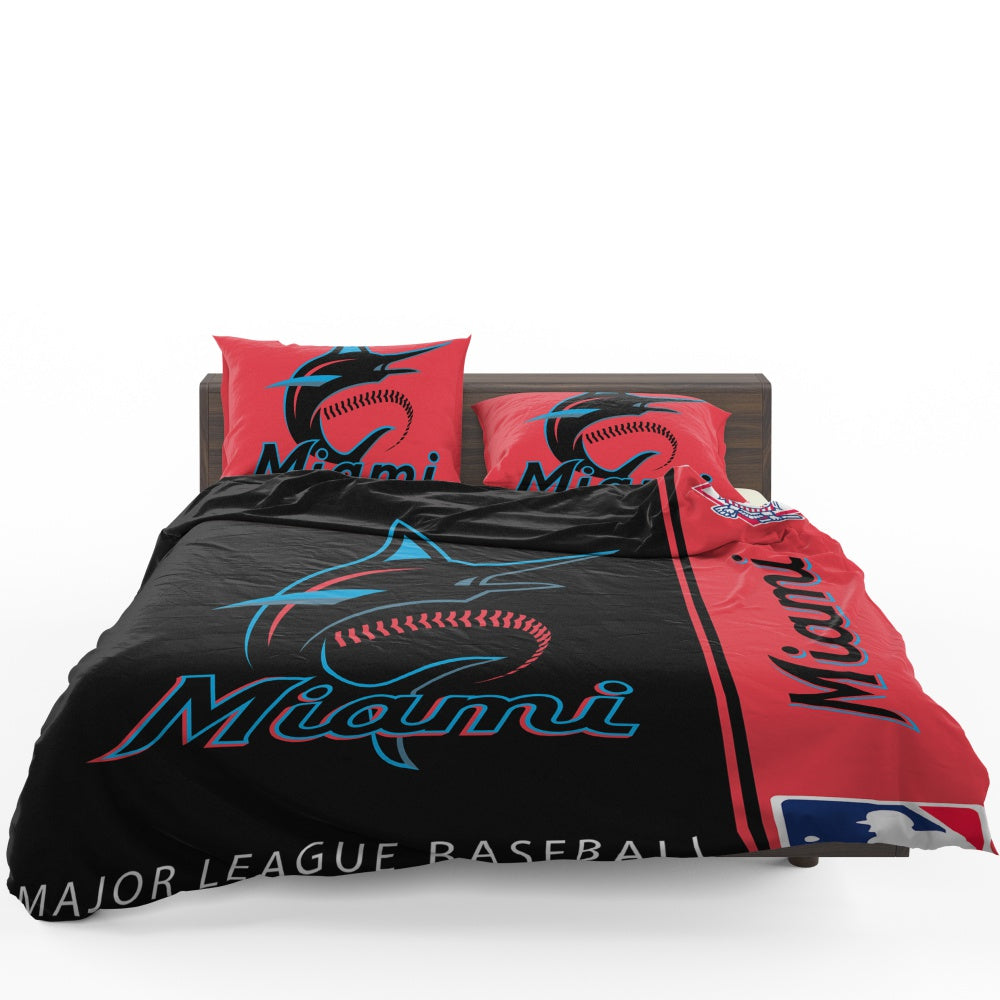 Miami Marlins MLB Baseball National League Bedding Set