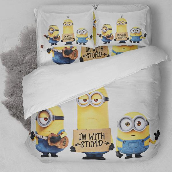 Minions Stupid Face Bedding Set
