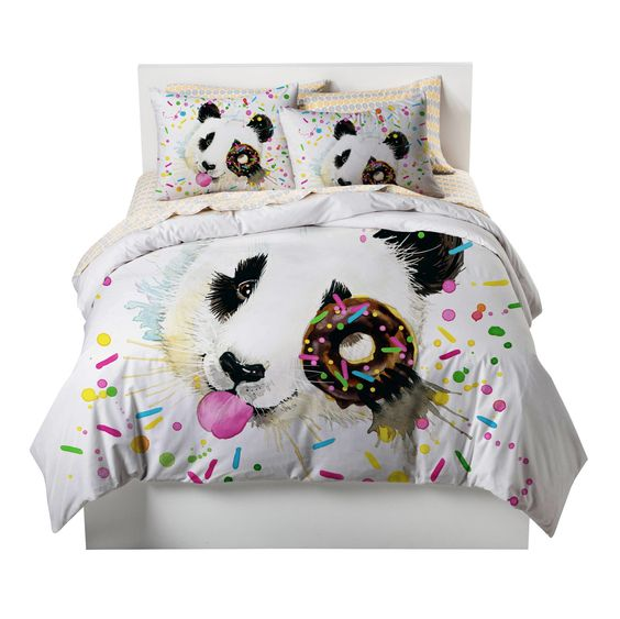 Panda Sprinkles Donut Bedding set