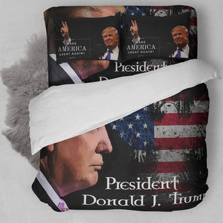 President Donald Trump 3D Customize Bedding Set