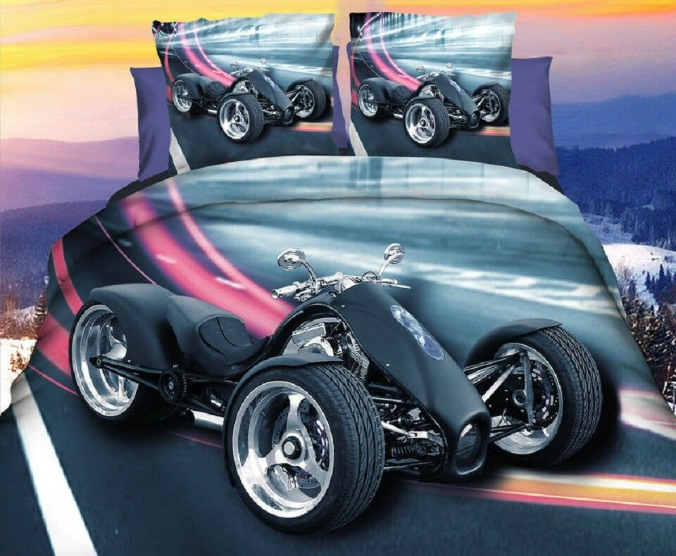 Quad Motorbike 3D Photo Print Duvet Cover Bedding Set  3