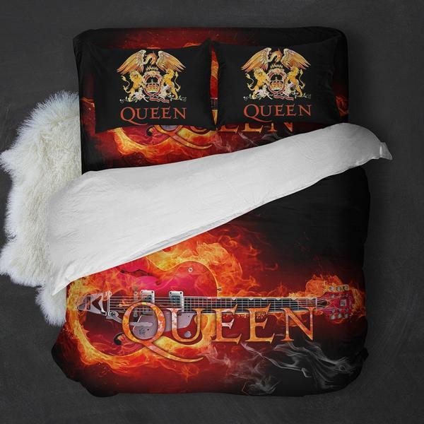 Queen Band Guitar Bedding Set