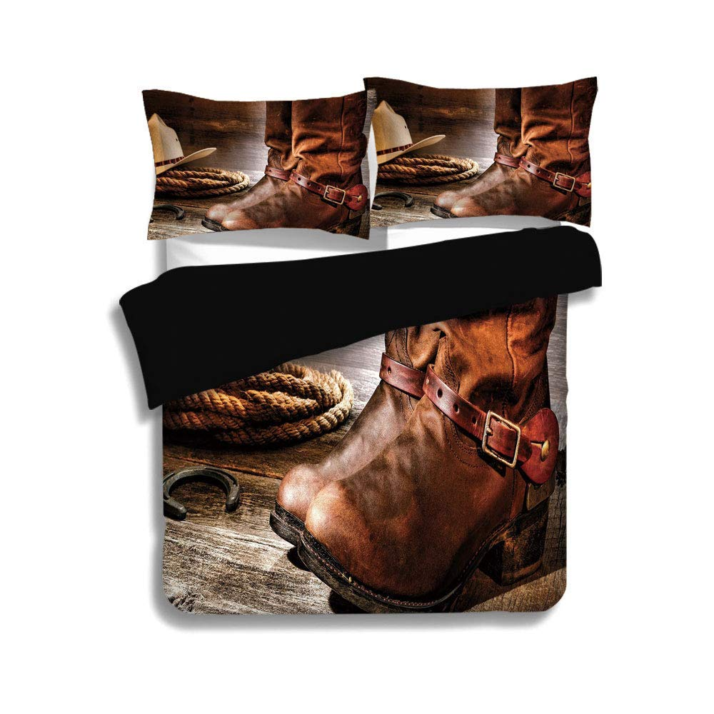SINOVAL Cowboy Boots  Bedding Set