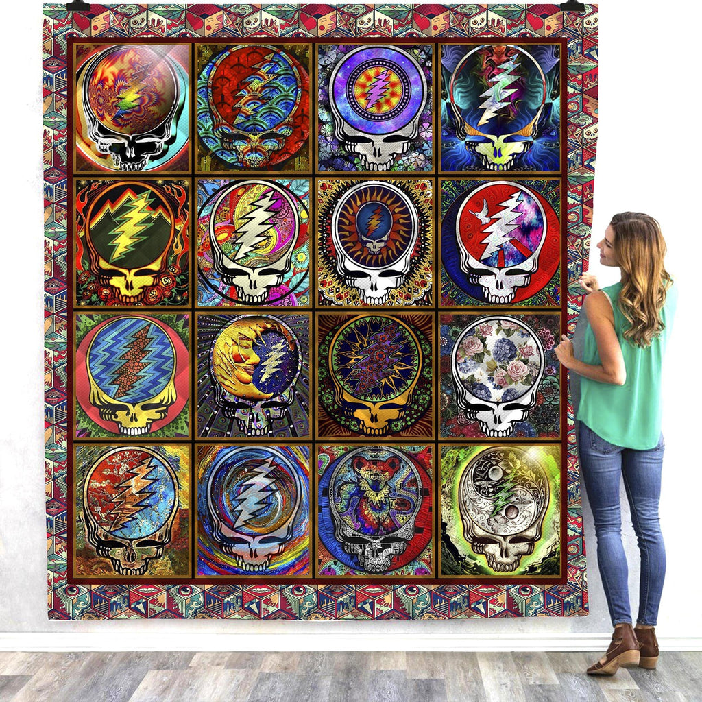 Skull Grateful Dead Steal Your Face Quilts