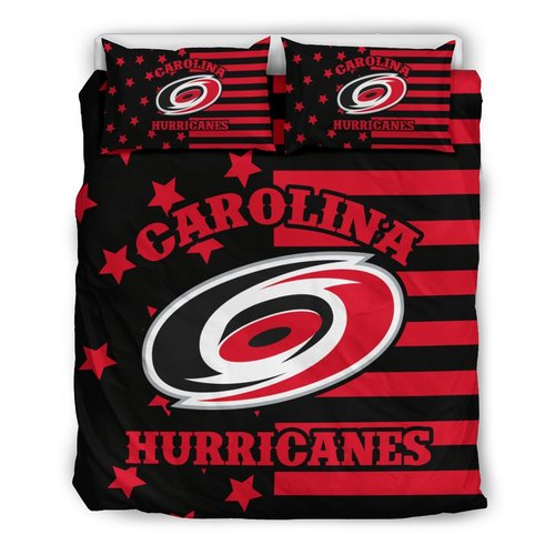 Star Mashup Column Carolina Hurricanes 3D Customize Bedding Set