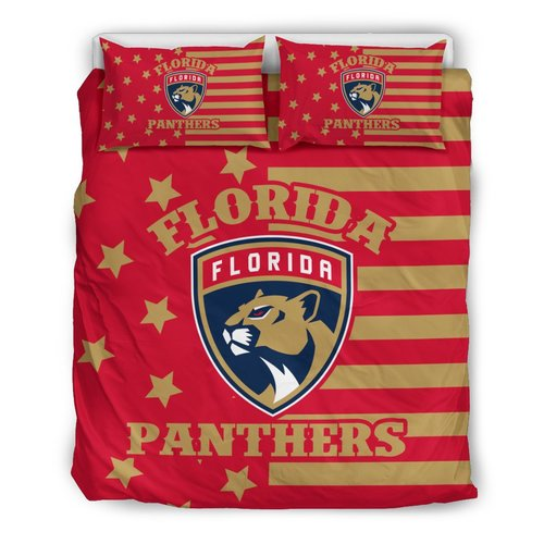 Star Mashup Column Florida Panthers 3D Customize Bedding Set