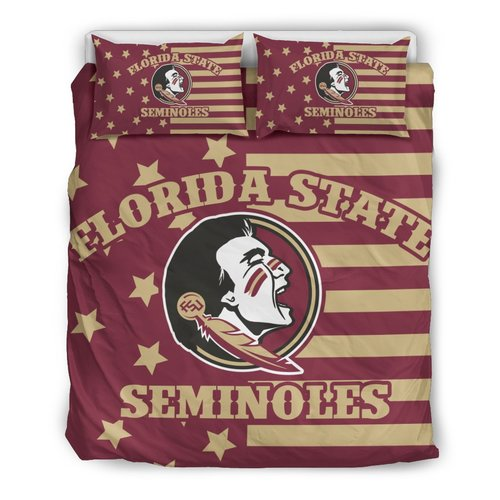 Star Mashup Column Florida State Seminoles 3D Customize Bedding Set