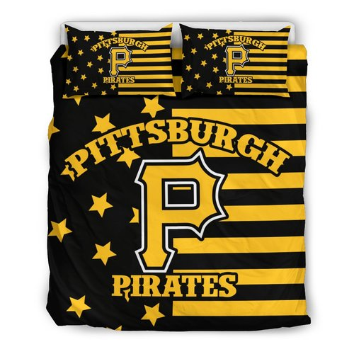Star Mashup Column Pittsburgh Pirates 3D Customize Bedding Set