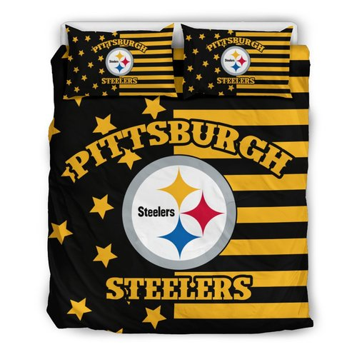 Star Mashup Column Pittsburgh Steelers 3D Customize Bedding Set