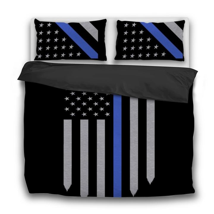 Thin Blue Line - Bedding Set