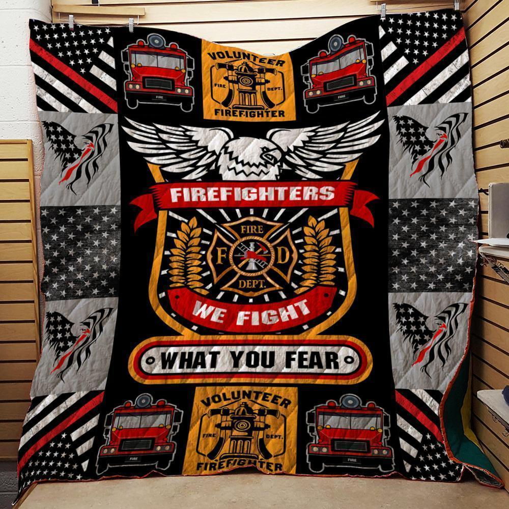 Thin Red Line We Fight What You Fear Quilts