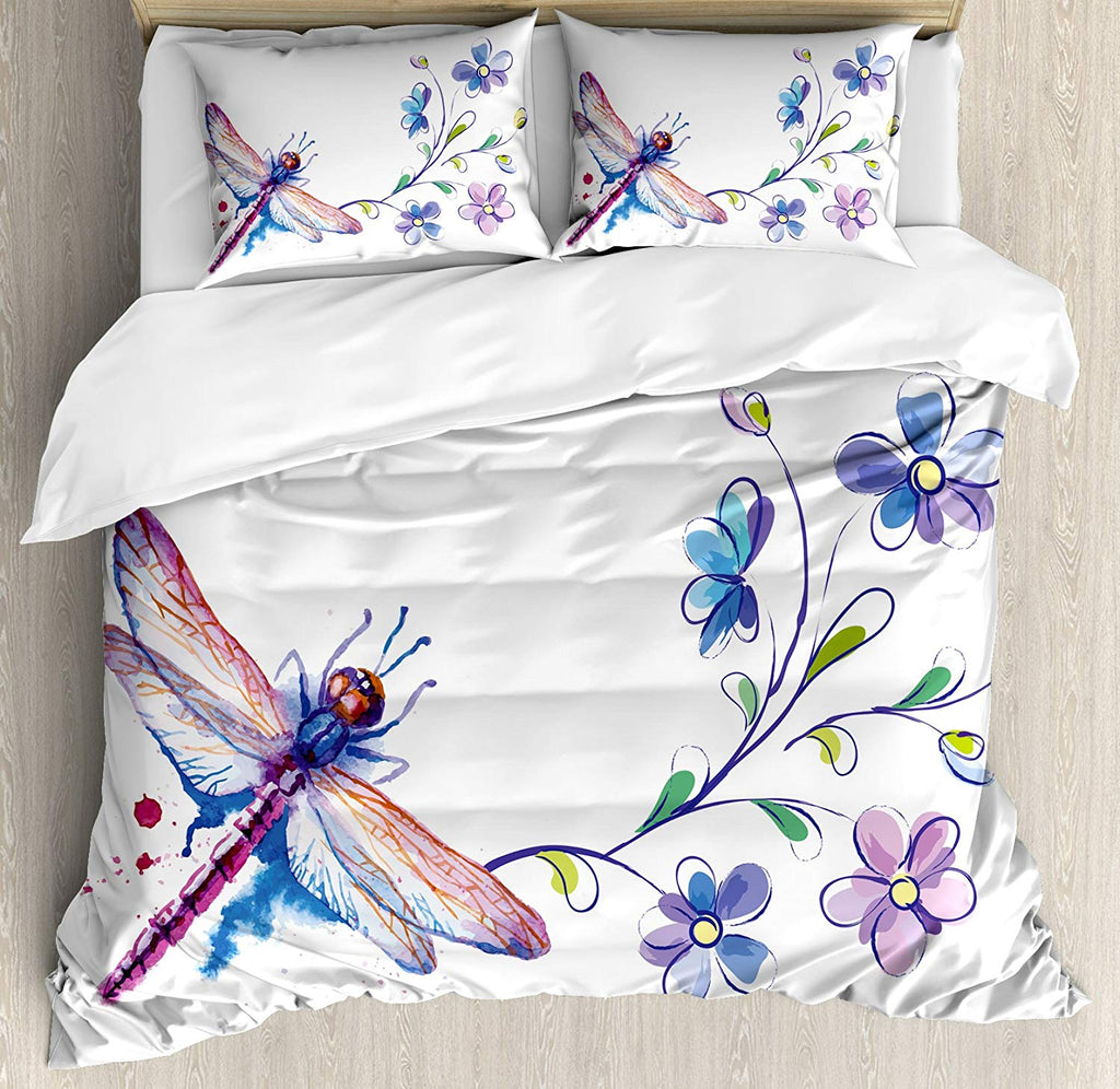 cute dragonfly bedding set