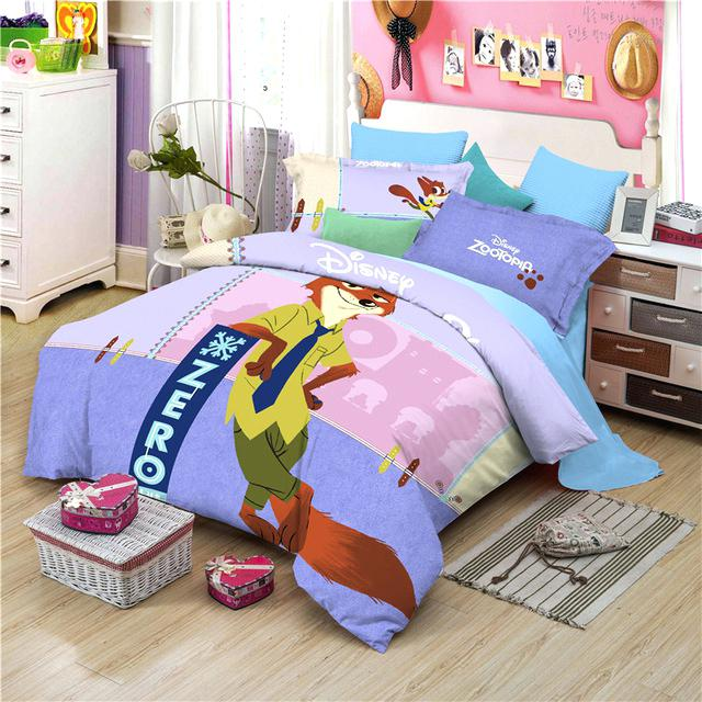 disney sheets queen size cotton nick cartoon bedding set
