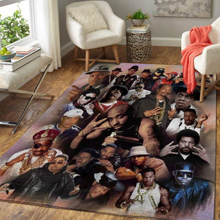 legend black hip hop rappers tupac the big notorious Rug