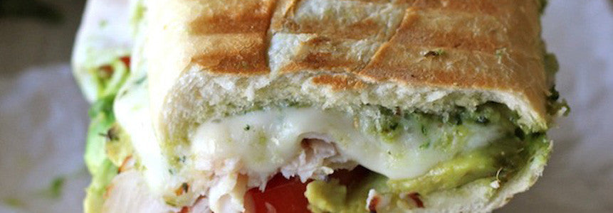 Turkey / Veggie-Turkey Pesto Panini