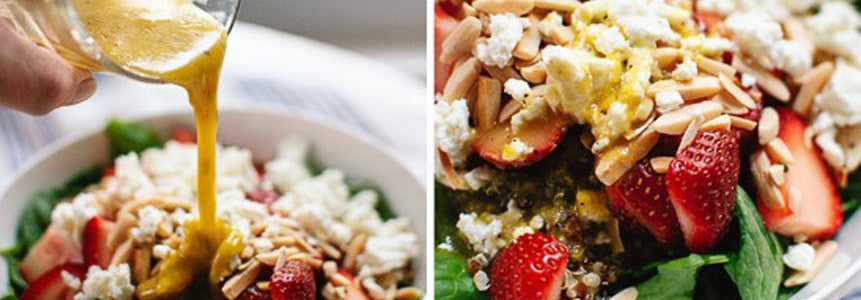 Strawberry and Spinach Quinoa Salad with Lemon Zest !