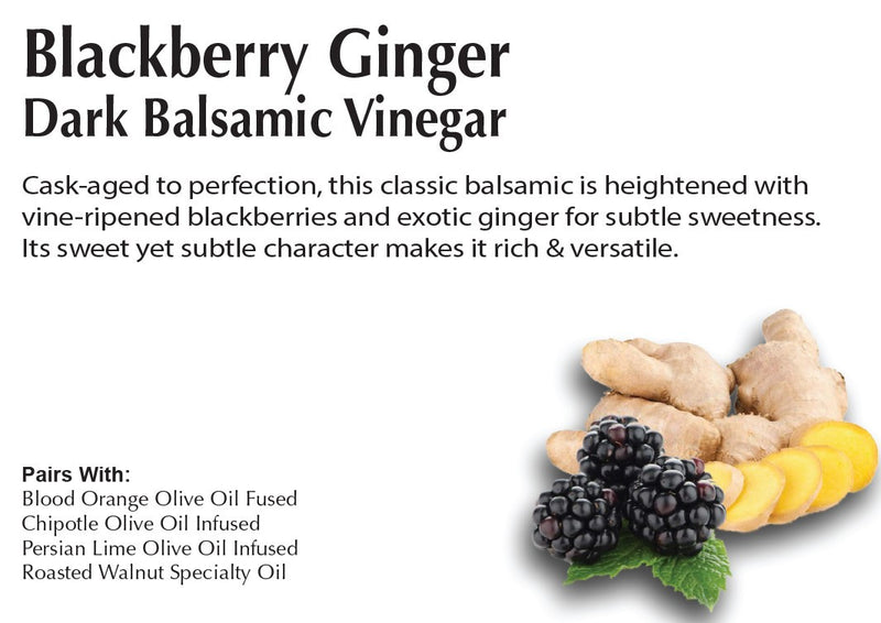Blackberry Ginger Dark Balsamic Vinegar