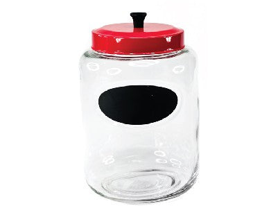 Chalkboard Jar with Red Lid - 176 oz