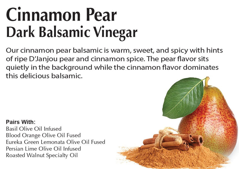 Cinnamon Pear Dark Balsamic Vinegar