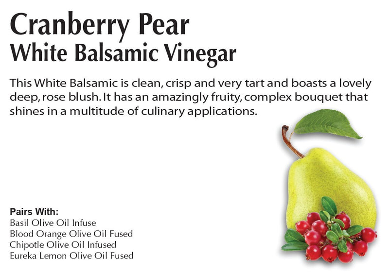 Cranberry Pear White Balsamic Oil - Infused Balsamic Oil