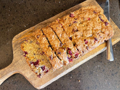 Cranberry Orange Bread Recipe with a crunchy-sweet crust