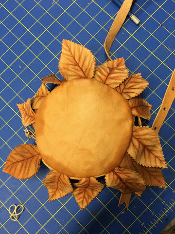 sunflower bag made from vegetable-tanned leather