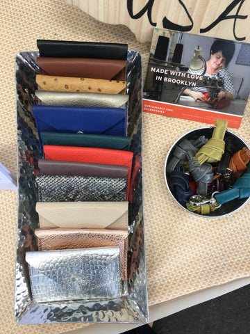 leather card cases at indie market