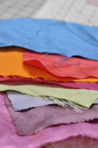 silk swatches for bridesmaids clutches