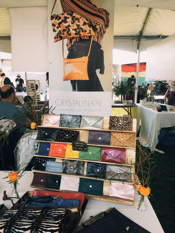LA renegade purse booth leather card cases