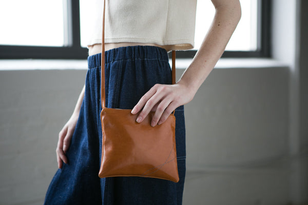 burnt orange cross body bag vegan leather