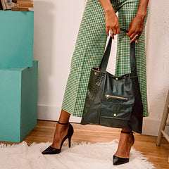 Coated canvas bag from vegan leather made in the USA