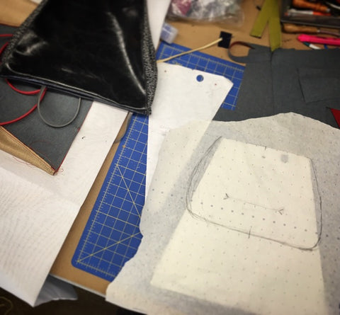 drafting a new bag pattern - for a backpack