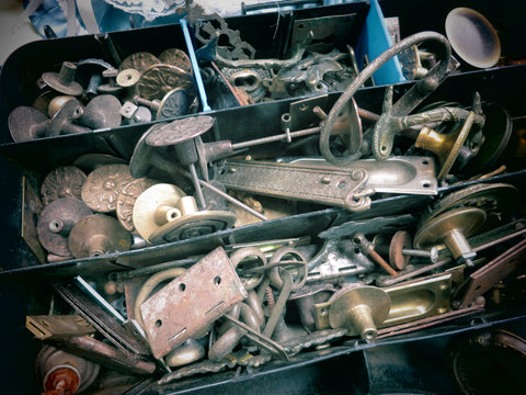 brass hardware from San Miniato antique market