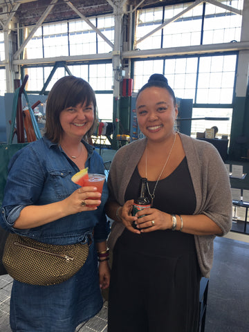 crystalyn kae and Adia of Rain City Forge at Indie Market Bay Area wholesale show