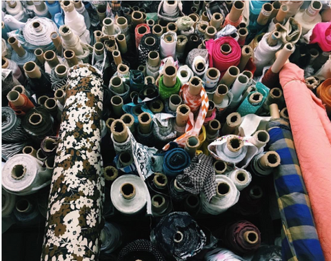sourcing fabric in manhattan's garment district