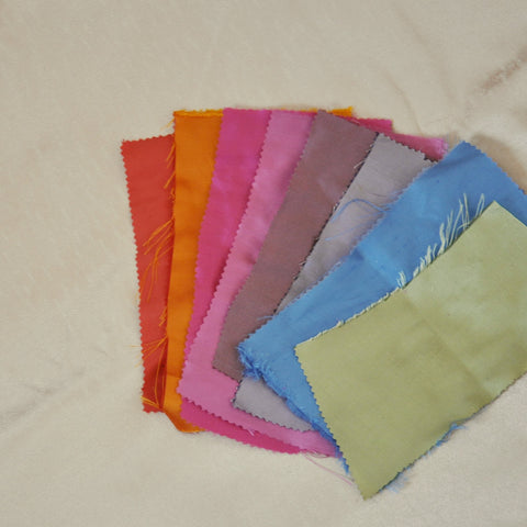 silk fabric swatches for custom bridesmaid clutches