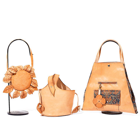vegetable tanned leather bags by crystalyn kae