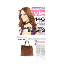 instyle magazine cover featuring crystalyn kae vegan bags